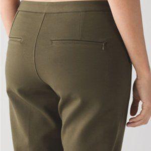 Lululemon City Trek Trouser (Ponte) Military Green